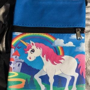 Other - Unicorn Vinyl crossbody-purse-Zipper-Long strap